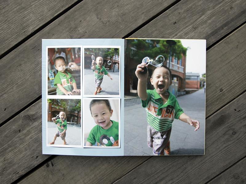 flat lay photobook
