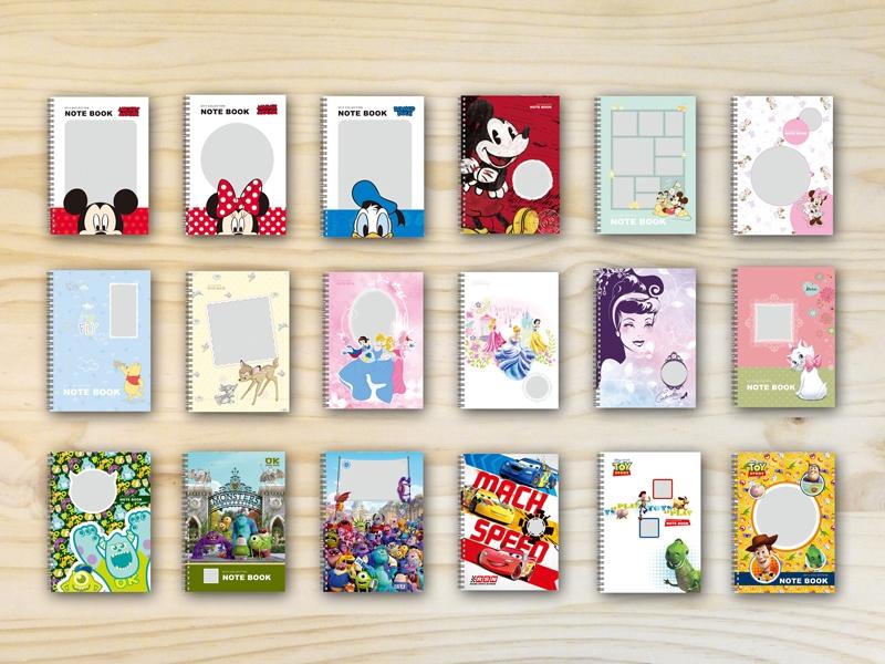 STORY365軟體可製作迪士尼系列客製化筆記本,有多款樣式,米奇,米妮,公主,瑪莉貓,小熊維尼,怪獸大學,玩具總動員,汽車總動員,小鹿斑比。