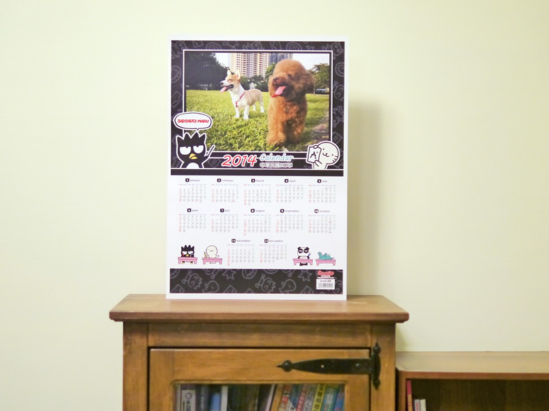 使用STORY365相片書軟體套入照片即可擁有最炫的酷企鵝2014年曆