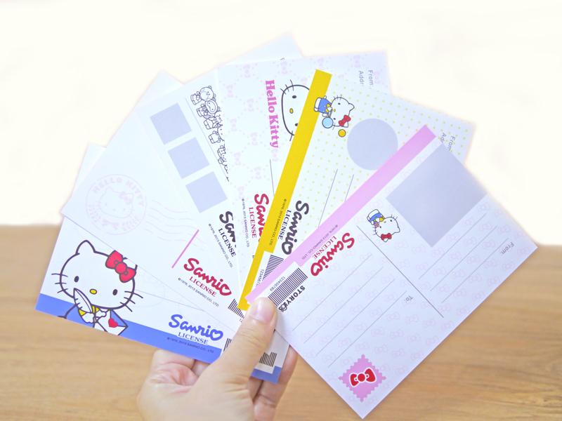 使用STORY365相片書軟體,就可製作Hello Kitty明信片,背面提供多種版型