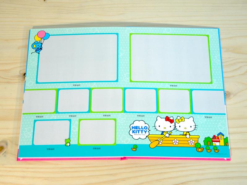 Hello Kitty蝴蝶裝相片書,內頁亮膜保護,照片增艷又有基本防水效果