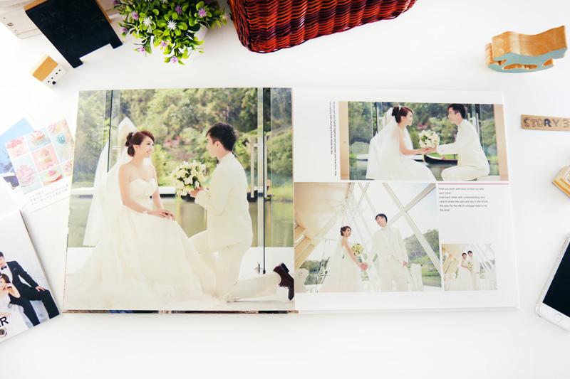 婚紗相本排版 婚紗相片排版 自製婚紗相本